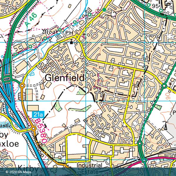 OS Map of the local area